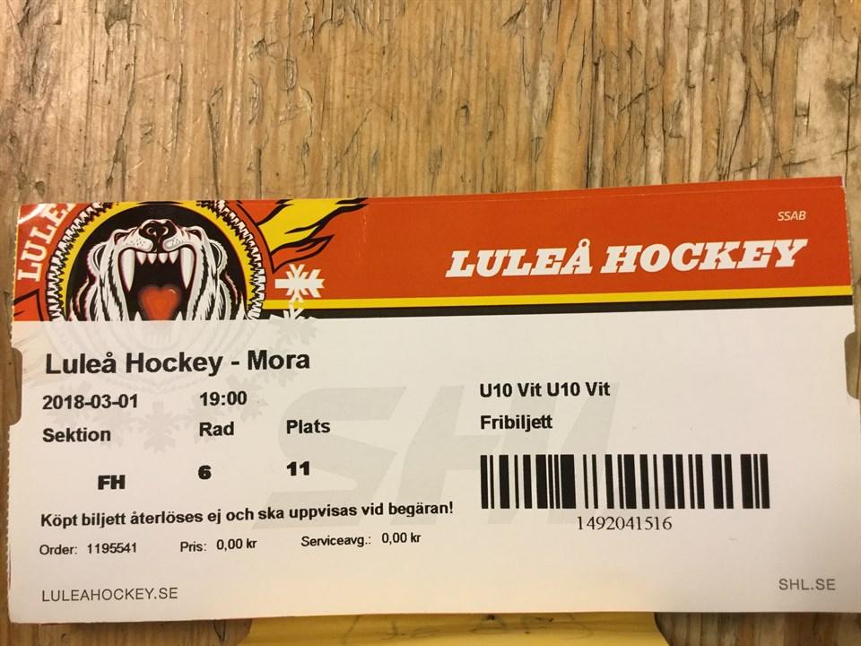 biljett luleå hockey